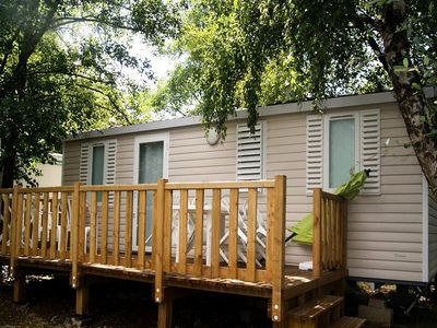 Photo for Camping Les Etangs Mina *** - Comfort Mobil-Home 3 Rooms 6 People Pond Side