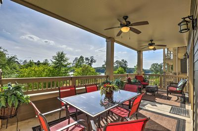 Escape to Talladega and enjoy time spent outdoors at this vacation rental condo.