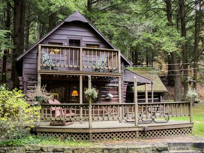 Photo for A Cabin By The Stream -  Astro Cabin for Cherry Springs State Park Firepit