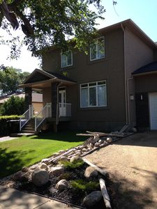 Front of house in mature Varsity View neighbourhood