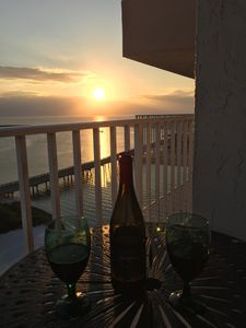 A Toast In Paradise Balcony Sunset
