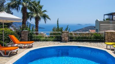 Photo for Two Bedroom Villa with Private Pool and Stunning Sea Views