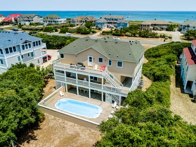 Photo for South Bound | 420 ft from the beach | Private Pool, Hot Tub, Dog Friendly