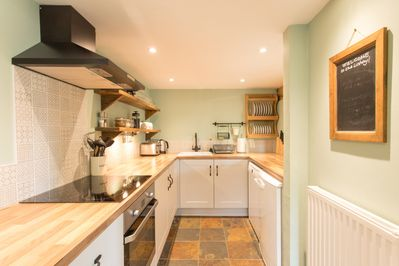 Modern well equipped kitchen with dishwasher and everything you need
