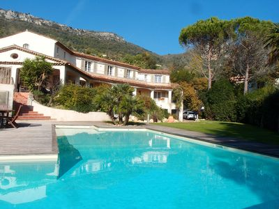 Photo for Villa grand standing quiet, 15m swimming pool, open view to the sea