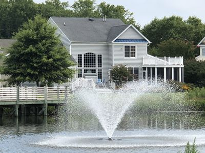 Photo for WATERFRONT 5BR BEACHHOUSE in BETHANY, POOL,GYM, SCREEN PORCH,BILLIARDS,FISH,GOL