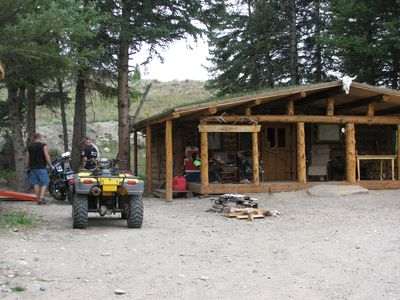 Photo for Riverfront Trapper Cabin at Beartooth Lodge close to Yellowstone National Park