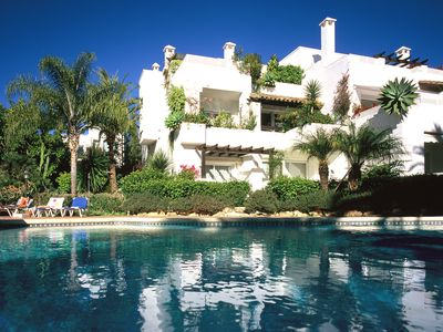 Photo for Marbella Luxury apartment 110m2, 300 meters from beach in Tropical Gardens