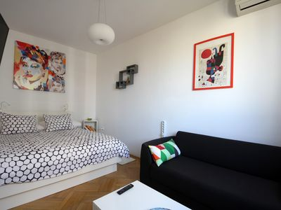 Photo for Cozy place in the center of Zagreb - free garage parking, free wi-fi, air con