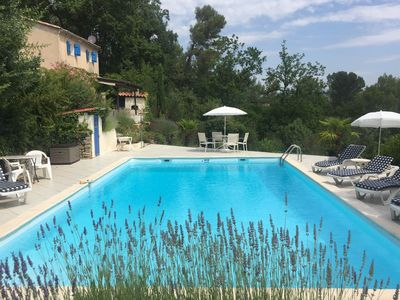 Photo for Villa in Provence with beautiful view, walking distance from Sillans-la-Cascade
