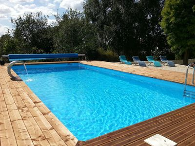 Photo for Large 4 Bedroom Farmhouse With Stunning Heated Swimming Pool For Exclusive Use