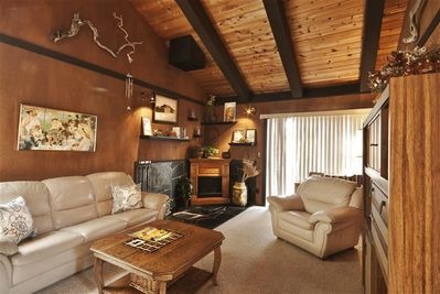 Unwind in this cozy living room during your downtime