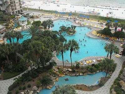 Photo for 1 BR / 1 BA beach front condo, Sleeps 4, great amenities, onsite pools