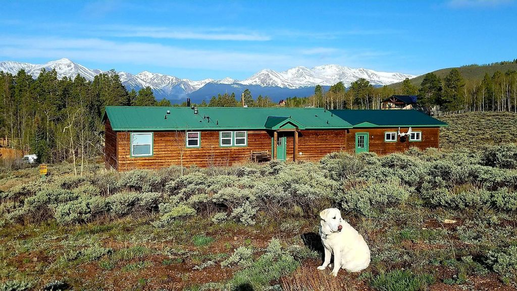 Cabin with Mt Elbert and Mt Massive in background