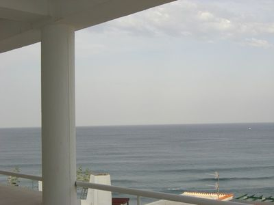 Photo for Nice apartment with 30m terrace and stunning sea views