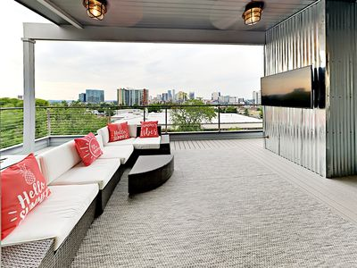 Photo for Stunning New 3BR Townhome w/ Skyline-View Roof Deck, 3 Story Corner-Unit