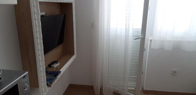 Photo for One bedroom apartment with terrace and sea view Mavarštica (Čiovo)