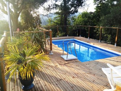 Photo for RARE PROVENCAL HOUSE between NICE and VILLEFRANCHE garden swimming pool beaches