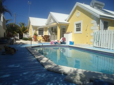 Photo for Stylish villa apt, world famous Bottom Bay 5 min walk,swimming pool.A/C