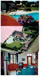 Photo for home with heated pool, sauna burgundy: 5 to 6 people fenced