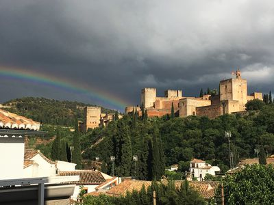 Photo for Jawdropping Alhambra views, refurbished loft in the heart of historic Albayzin