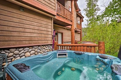 Return to your vacation rental home for 12 to soak in the hot tub.