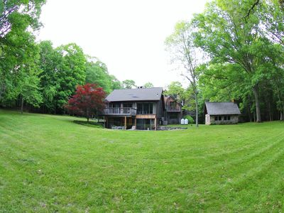 Photo for Unique Woodland Retreat w/ 5 Bedrooms & 50 Private Acres