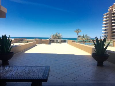 Photo for In The Middle Of All, Ocean Front Ground Floor 2BD. Steps from the beach Phase 1