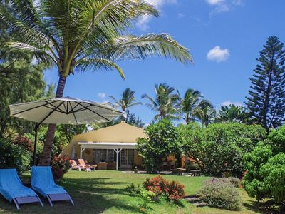 Photo for VERY PLEASANT VILLA in a peacefull  garden and at 50m from a gorgeous swimming area and white sandy beach