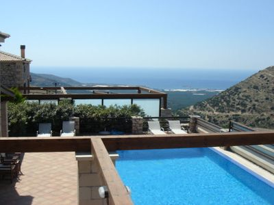 Photo for Villa Platanos is a super villa, built over three levels to take advantage of the magnificent mounta