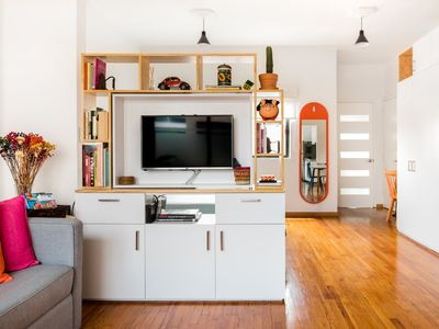 Photo for Hip, Colorful Studio with Patio in Roma Norte
