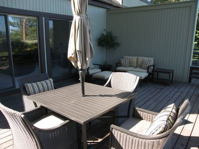 Comfortably furnished deck