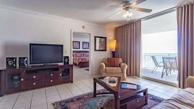Photo for Charming gulf front condo at Emerald, Free WiFi, walking distance to family fun!