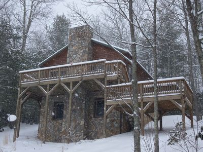 Photo for Songbird Cabin Vacation Rental located on the Cornett Deal Christmas Tree Farm