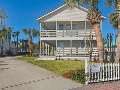 Photo for Ocean  view, STEPS TO BEACH, sleeps 10 (3 BR), pool