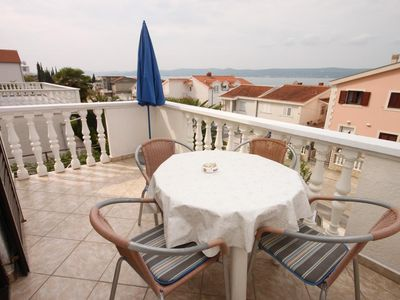 Photo for One bedroom apartment with terrace and sea view Sveti Petar, Biograd (A-356-d)