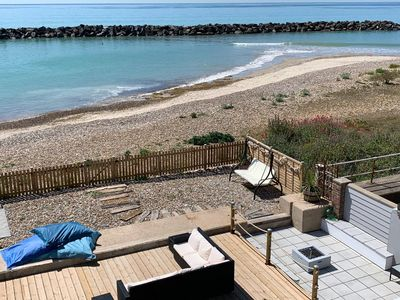 Photo for 👀LUXURIOUS 10 BED BEACH/SEA FRONT HOME, HOT TUB AND DIRECT SEA ACCESS, GOODWOOD