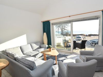 "Photo for Good Morning! From the comfortable apartment ""beach gear"" with balcony for up to 4 people offers an indescribable panoramic views of the Flensburg Fjord."