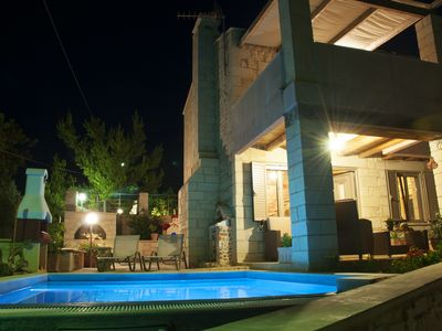 Photo for Family friendly Villa with 2 bedrooms, Private Pool and Sea View near the Beach