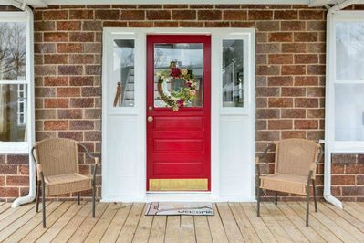 """Nothing says """"welcome"""" like a red door"""