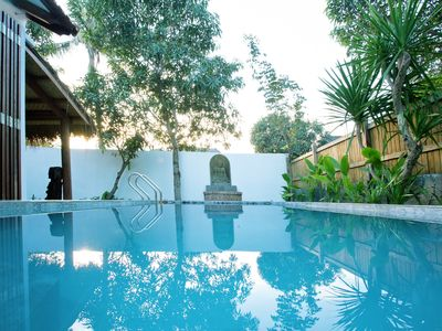 Photo for Stunning private villa with pool - 1 minute walk to the beach and restaurants