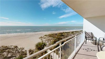 Photo for Gorgeous Direct Beach Front & Gulf Views from this Updated unit - Free Wifi - Madeira Norte 311