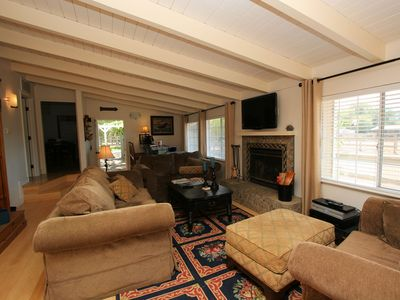 Generous Living Room Couches with Mountain Views & Equine Neighbors