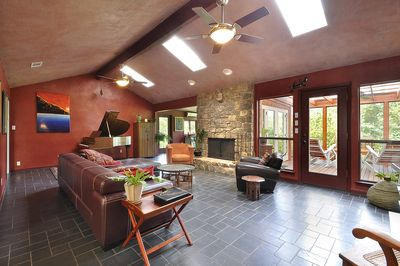 Spacious and inviting living room.