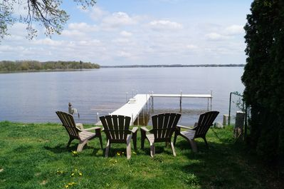 Relax on chairs overlooking Fox Lake