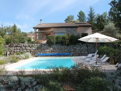 Photo for Comfortable villa with private pool in St Genest Beauzon south ardech