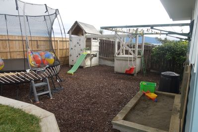 Great back yard for kids