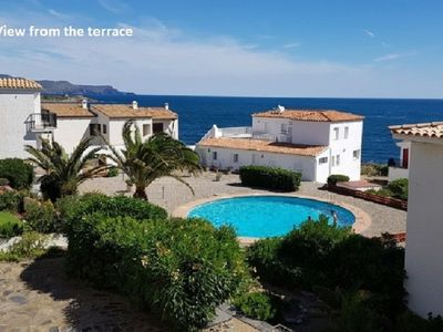 Photo for Apartment 6 pers. Port de la Selva facing the sea any comfort with swimming pool