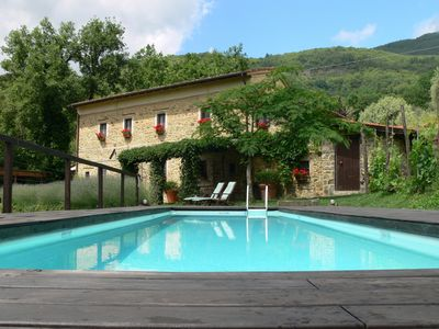 Photo for Beautiful Tuscan farmhouse with stunning view and pool