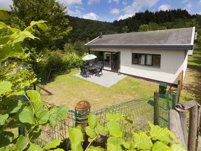 Photo for Bungalow in the holiday park Landal Wirfttal - Recreational lake with sunbathing area and pedal boats